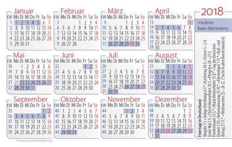 Kalender 2018 Feiertage Ferien Bw Kalender 2018 Mit Feiertagen Bw 28 Images Ferien Baden