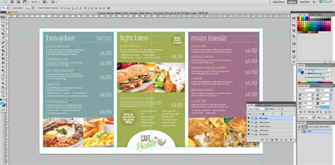 design menu in photoshop cafe canteen style menu board psd template eclipse