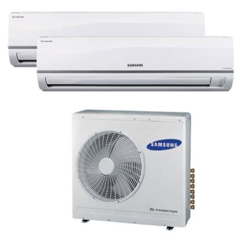 Ac Indoor Samsung samsung multi zone 36 000 btu mini split air conditioner system w 2 18 000 btu indoor units