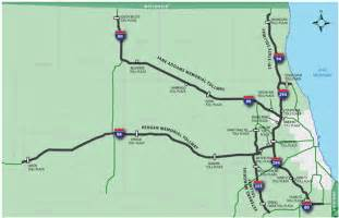 Chicago Tollway Map by Pics Photos Map Of Illinois Tollway Maps