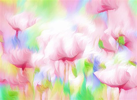 The Battle Of The Pink by War Of The Pink Winds Painting By Georgiana Romanovna