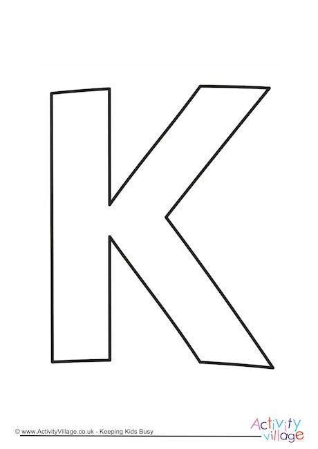 letter k template letter template k