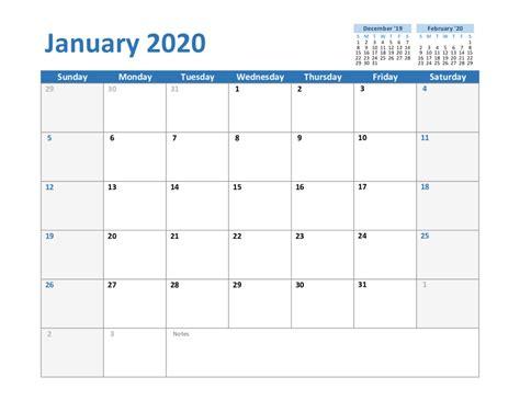 create  january  calendar printable editable blank templates