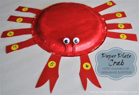 Paper Plate Crab Craft - 25 best paper plate crab ideas on