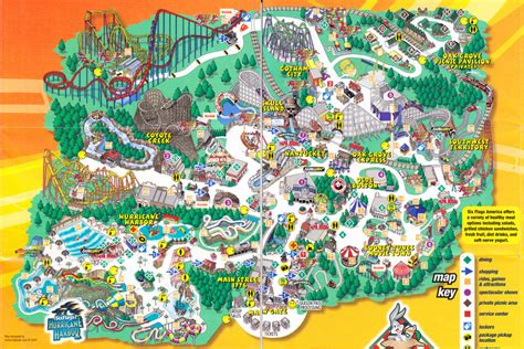 six flags texas park map sixflags america park map