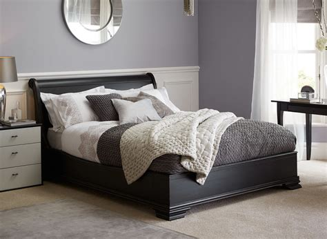 May Distressed Black Wooden Bed Frame Dreams Black Bed Frame And Headboard