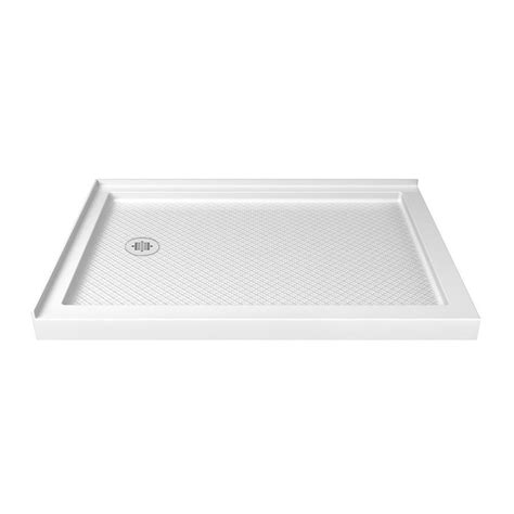 48 Inch Shower Base by Shop Dreamline Slimline 48 In L X 36 In W White Acrylic Rectangle Corner Shower Base At Lowes