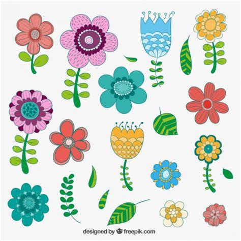 imagenes de flores dibujadas a mano flores dibujadas a mano en el estilo colorido descargar