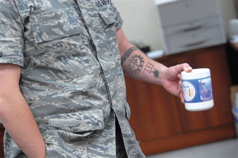 us air force tattoo policy air relaxes policy allows sleeves