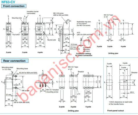 Breaker Schneider Ezc400n 3p 320a mccb mitsubishi nf c 2p series