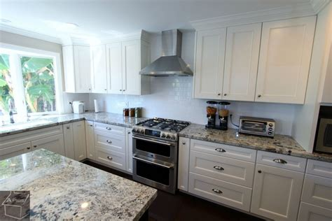 Kitchen Remodels With White Cabinets Contemporary U Shaped Kitchen Remodel With White Custom Cabinets In Irvine