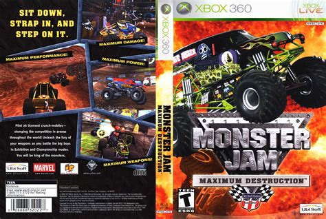 monster truck video games xbox 360 car 225 tula de monster jam maximum destruction para xbox360