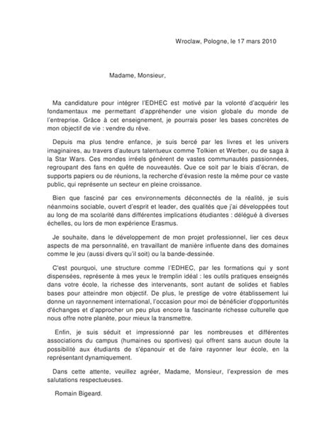 Exemple Lettre De Motivation Anglais Erasmus Exemple Lettre Motivation Erasmus