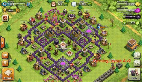 layout coc untuk war th 8 base coc th 7 terbaik terkuat untuk war dan farming tahun