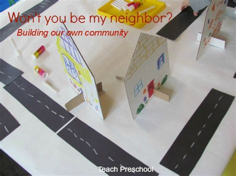neighborhood construction in preschool teach preschool