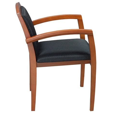 black wood desk chair wood used cherry side chair black national office