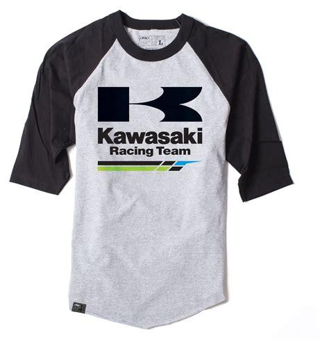 Kaosbajut Shirt Kawasaki 1 factory effex kawasaki racing baseball shirt revzilla