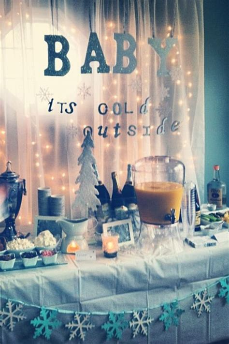 Winter Themed Baby Shower Ideas by Baby Shower Brunch Snow And Bar On