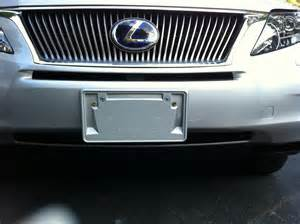 2010 rx 350 front license plate holder page 2 club