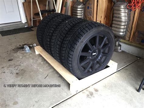 diy  tire rack