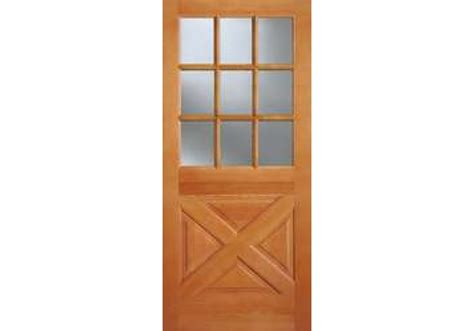 Ab2035 Vertical Grain Douglas Fir Exterior 9 Lite Top 9 Lite Exterior Door