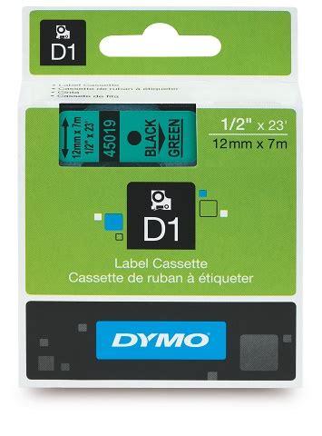 dymo label cassette dymo d1 label cassette 12mm x 7m black on green skout