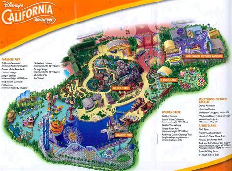 california adventure map pdf disneyland california adventure printable park map