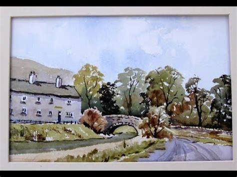 watercolor tutorial alan owen how to paint a village with alan owen youtube