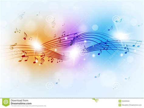 free light background music music notes multicolor background stock photo image
