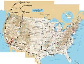 Driving Map Of Usa by Initial U