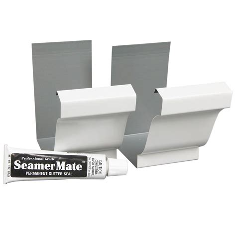 amerimax home products 5 in white steel seamers with