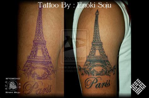 paris tattoos eiffel tower by enoki soju by enokisoju on