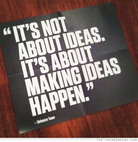 it s not about ideas it s about ideas happen