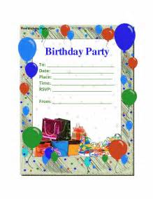 best compilation of free birthday invitations templates theruntime