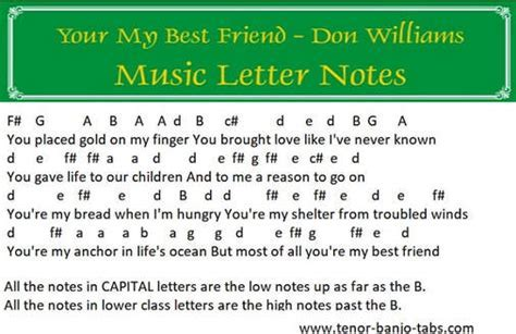 Your My Best Friend Sheet Music By Don Williams   Tenor