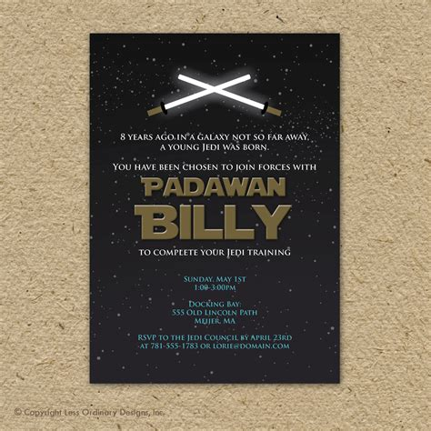 printable star wars invitations star wars birthday party invitation printable by