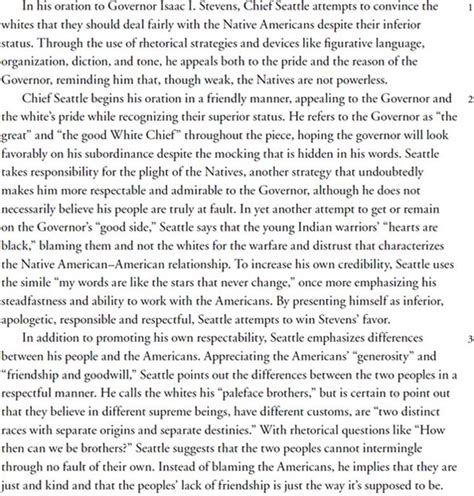 Chief Seattle Essay by Sle Student Essays Practice 1 Build Your Test Taking Confidence Ap Language