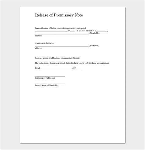 Promissory Note Template 20 Free For Word Pdf Promissory Note Template Doc