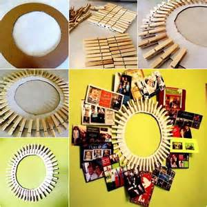 Do It Yourself Home Decors diy clothespin wreath picture frame good home diy