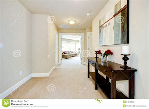 large home hallway  art  furniture stock image