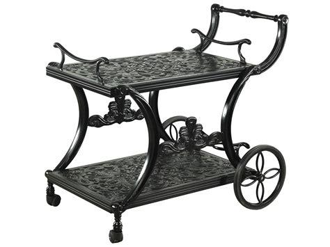 patio serving carts on wheels gensun regal accessories cast aluminum serving cart