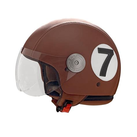 Helmet Decorations by Brown Leather Helmet With Number 7 Decoration Motorcycle
