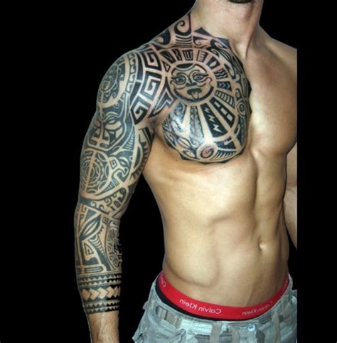 tribal chest tattoos designs hawaiian tribal chest tattoos
