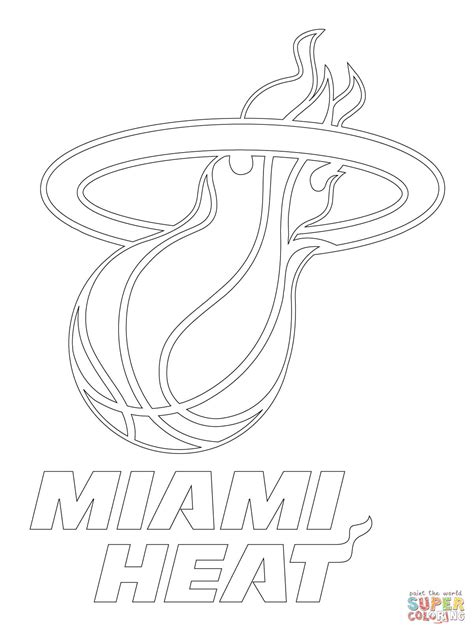 miami heat coloring pages coloring home