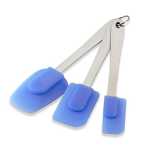 58 at home furniture store utah blue silicone ice silicone spatulas set of 3 www bedbathandbeyond com