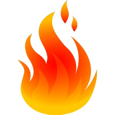 cartoon fire png transparent
