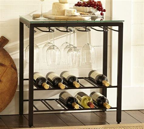 Trieste Wine Storage Table   Pottery Barn