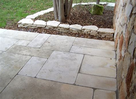 cut limestone patio at edge elizabeth mcgreevy