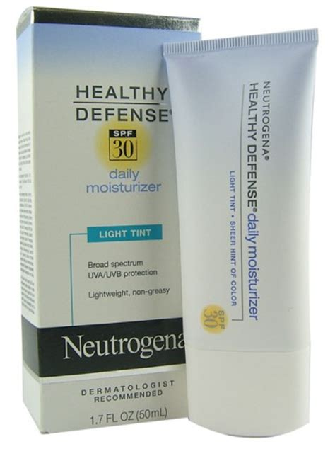 neutrogena healthy defense daily moisturizer light tint buy neutrogena healthy defense spf30 light tint 50ml at