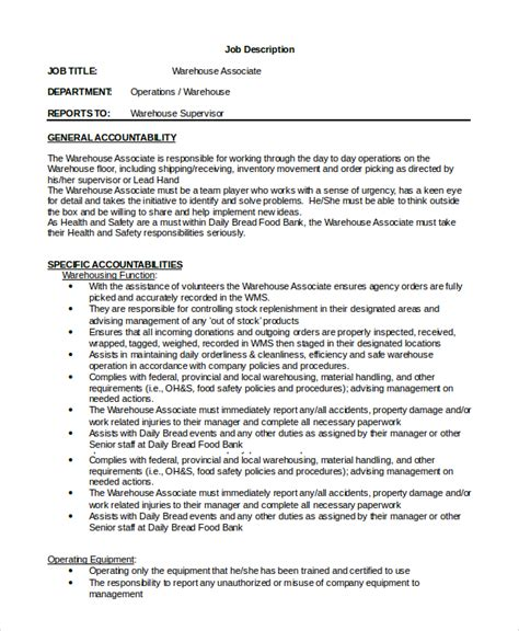 warehouse supervisor sle resume management cv template